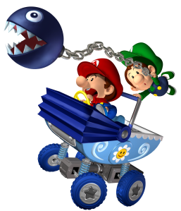 You'll have about as much control as baby luigi